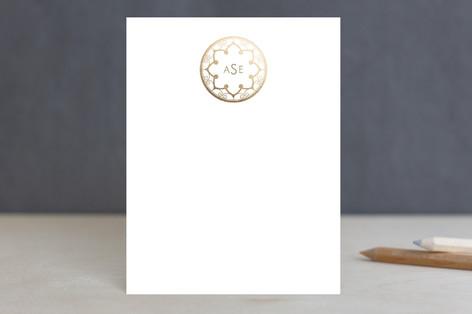 Intricate Monogram Foil-Pressed Stationery