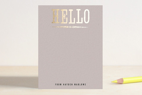Holla Hello Foil-Pressed Stationery