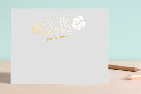 Hello Yellow Foil-Pressed Stationery