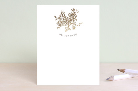 Elegance Illustrated Foil-Pressed Stationery
