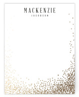 This is a black foil stamped stationery by Lori Wemple called Bubbly with foil-pressed printing on signature.