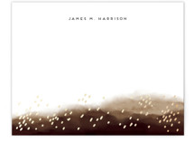 This is a brown foil stamped stationery by iamtanya called Mountain and Rain with foil-pressed printing on signature.