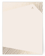 This is a gold foil stamped stationery by Leah Bisch called Asymmetry with foil-pressed printing on signature.