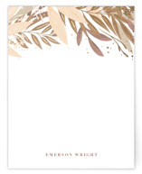 This is a brown foil stamped stationery by Itsy Belle Studio called Wild Garden with foil-pressed printing on signature.
