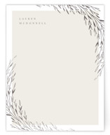 This is a grey foil stamped stationery by Anastasia Makarova called shiny twigs with foil-pressed printing on signature.