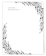 This is a white foil stamped stationery by Anastasia Makarova called shiny twigs with foil-pressed printing on signature.