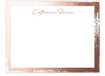 This is a pink foil stamped stationery by Pixel and Hank called Catherine with foil-pressed printing on signature.