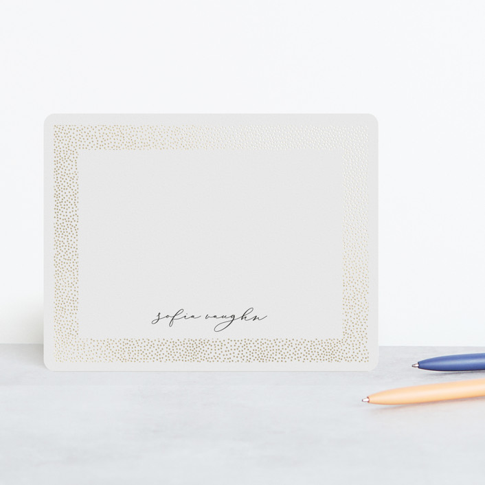 """Glisten"" - Modern, Preppy Foil-pressed Stationery in Ivory by Erica Krystek."