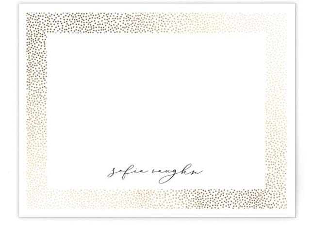 Glisten Foil-Pressed Personalized Stationery