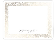 This is a white foil stamped stationery by Erica Krystek called Glisten with foil-pressed printing on signature.