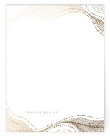 This is a brown foil stamped stationery by chocomocacino called gelatine with foil-pressed printing on signature.
