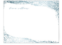 This is a blue foil stamped stationery by Hooray Creative called Speckled Waves with foil-pressed printing on signature.