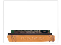 This is a orange foil stamped stationery by Baumbirdy called The Tale of 2020 with foil-pressed printing on signature.