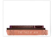 This is a purple foil stamped stationery by Baumbirdy called The Tale of 2020 with foil-pressed printing on signature.
