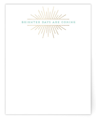 Brighter Days Foil-Pressed Personalized Stationery