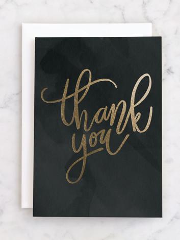 Handwritten thanks