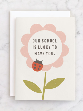 The Flower and the Ladybug Invitation