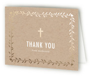 Double the Love First Holy Communion Thank You Cards