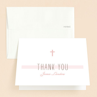 Simple Communion First Holy Communion Thank You Cards