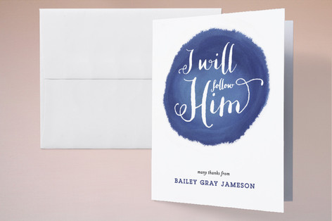 Follow Him First Holy Communion Thank You Cards
