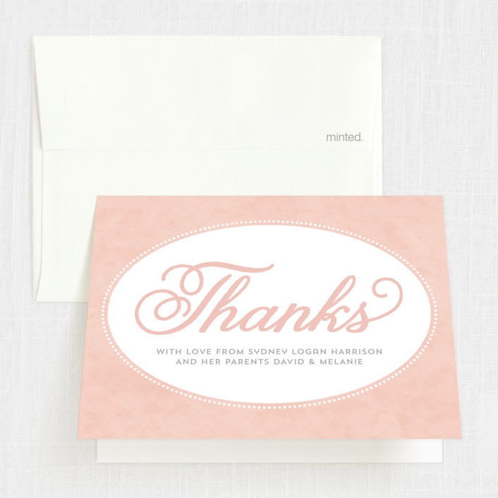 """Sweet Tradition"" - First Holy Communion Thank You Cards in Pink Blossom by Sarah DeWitt."