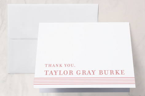 Simple Stripes First Holy Communion Thank You Cards