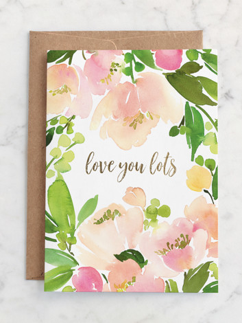 Peach Floral Watercolor