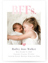 This is a purple birth announcement by Pink House Press called BFFs with gloss-press printing on smooth signature in standard.