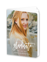 This is a white graduation booklette card by Phrosne Ras called Statement with standard printing on signature80 in booklette.