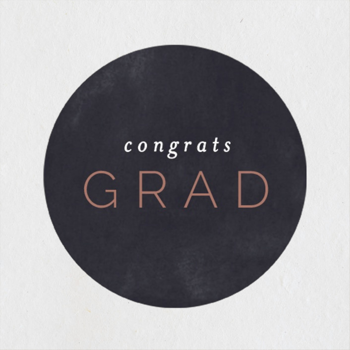 """""""Great Grad"""" - Graduation Stickers in Navy by Pixel and Hank."""