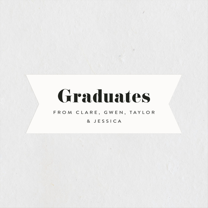 """Celebrate!"" - Graduation Stickers in Ivory by Kasia Labocki."