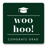 This is a green graduation sticker by Catherine Culvenor called Fancy with standard printing on uncoated sticker paper in sticker.