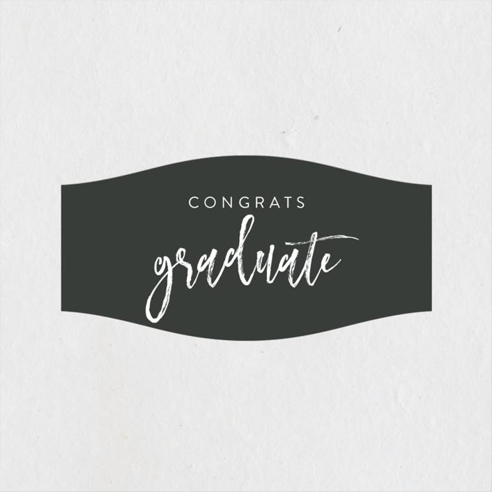 """Let's Celebrate!"" - Graduation Stickers in Slate by Kasia Labocki."