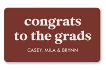 This is a brown graduation sticker by Lea Delaveris called Virtually the best with standard printing on uncoated sticker paper in sticker.
