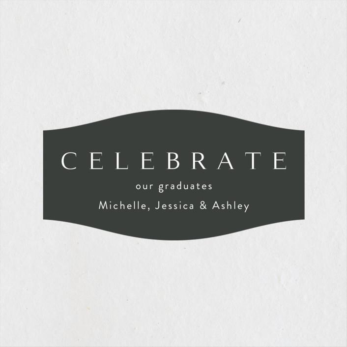 """Celebration"" - Graduation Stickers in Cotton by Kasia Labocki."
