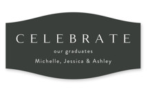 This is a white graduation sticker by Kasia Labocki called Celebration with standard printing on uncoated sticker paper in sticker.