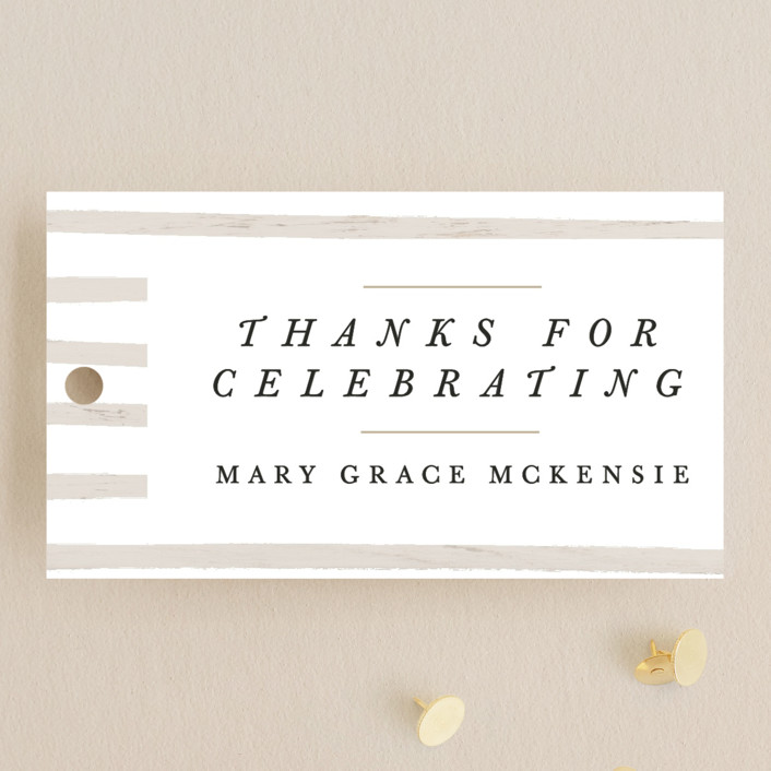"""""""Memory Book"""" - Graduation Favor Tags in Cotton by Bethany McDonald."""