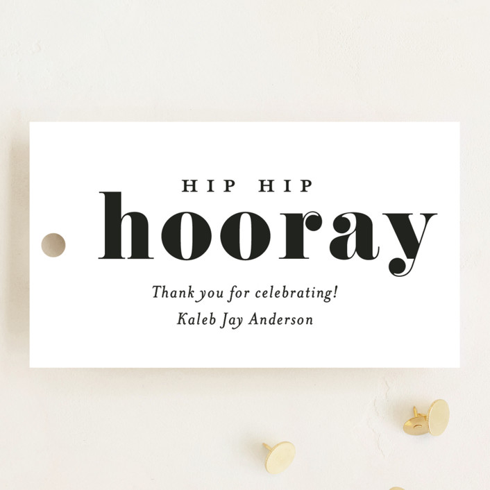 """Hooray"" - Graduation Favor Tags in Cloud by Kasia Labocki."