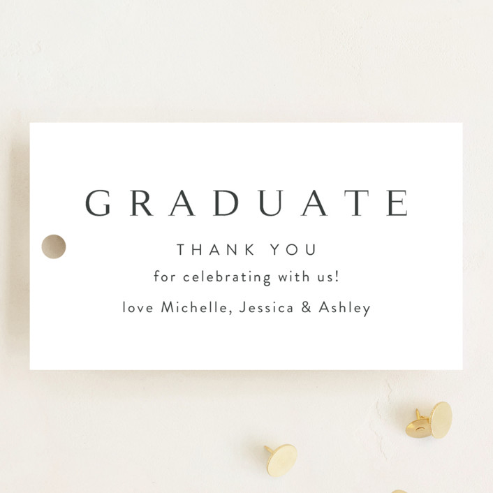 """Celebration"" - Graduation Favor Tags in Cotton by Kasia Labocki."