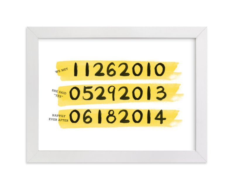 This is a yellow custom art by Qing Ji called Our Special Days with standard.
