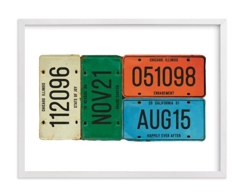"""""""License Memories"""" by LemonBirch Design in beautiful frame options and a variety of sizes."""