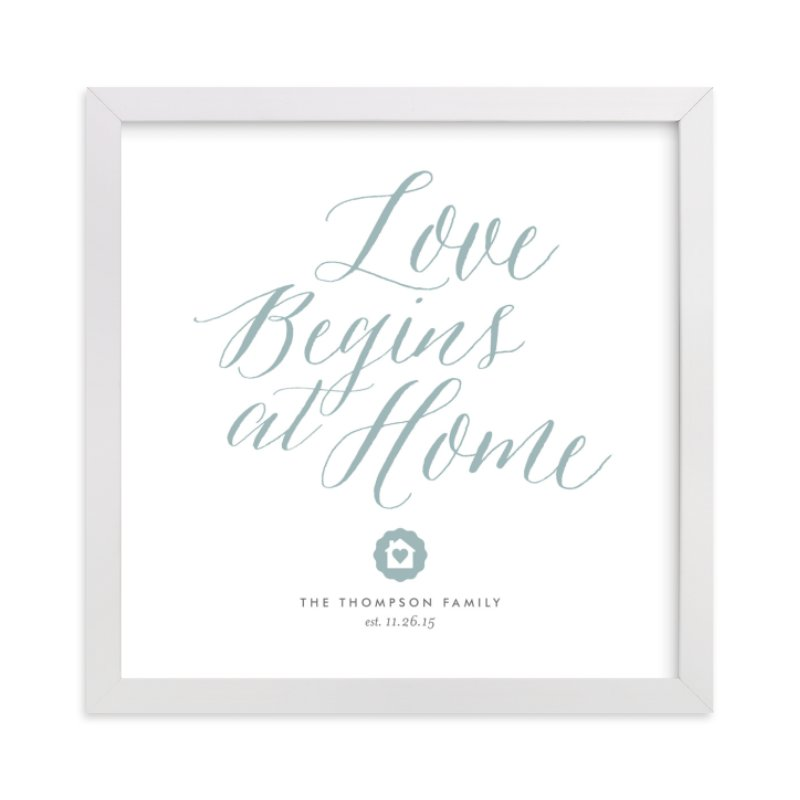 This is a blue custom art by Eric Clegg called Love Starts Here.