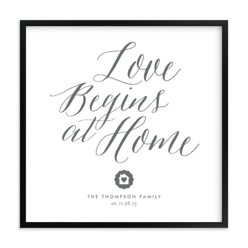 """""""Love Starts Here"""" by Eric Clegg in beautiful frame options and a variety of sizes."""