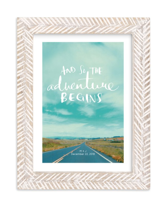 """""""Love Is An Adventure"""" by SylvieCeres Designs in beautiful frame options and a variety of sizes."""
