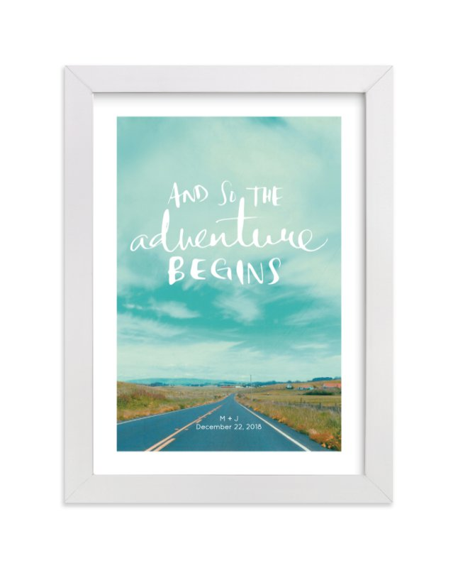 This is a white custom art by SylvieCeres Designs called Love Is An Adventure.
