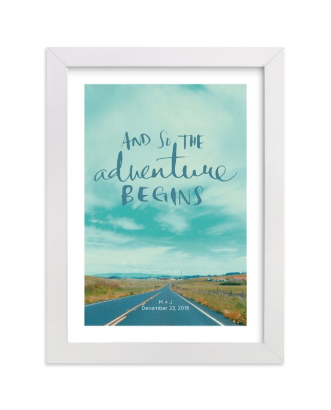 This is a blue custom art by SylvieCeres Designs called Love Is An Adventure.