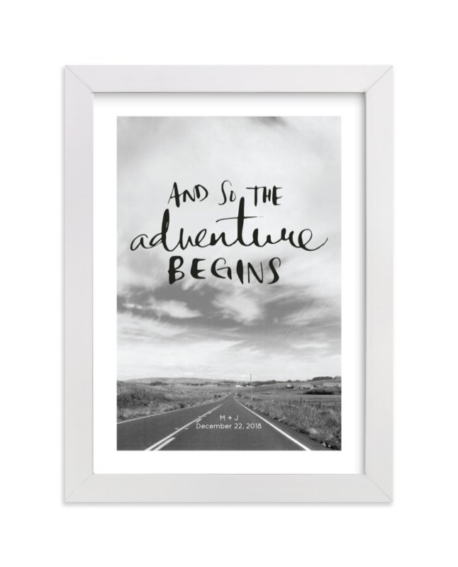 This is a grey custom art by SylvieCeres Designs called Love Is An Adventure.