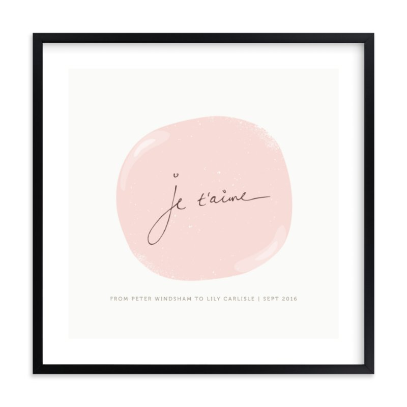 """""""Je t'aime"""" by chocomocacino in beautiful frame options and a variety of sizes."""