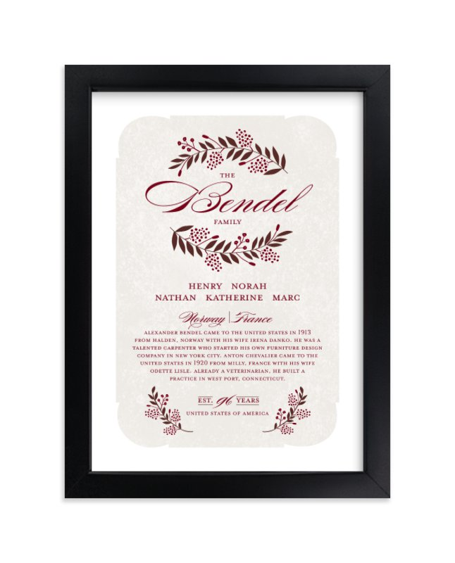 """Surname"" by Yolanda Mariak Chendak in beautiful frame options and a variety of sizes."