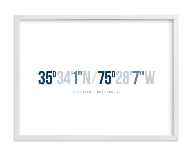 This is a blue custom art by Robin Ott called Destination.